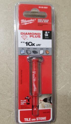 "New MILWAUKEE 5//16/"" 8mm Diamond Plus Hole Saw Tile /& Stone 49-56-0507"