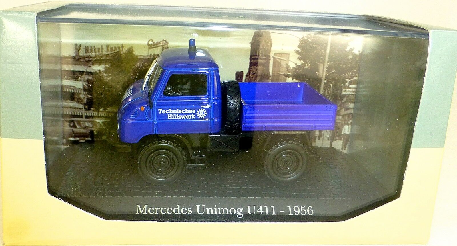 THW Unimog U411 1956 Mercedes 1 43 Atlas 7421125 New in Box LG6 Μ