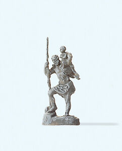 """Capable Preiser 29102 Piste H0 Unique Personnage, """"statue De Saint-christophe"""" #neu Dans Neuf Dans Sa Boîte #-afficher Le Titre D'origine Magasin En Ligne"""
