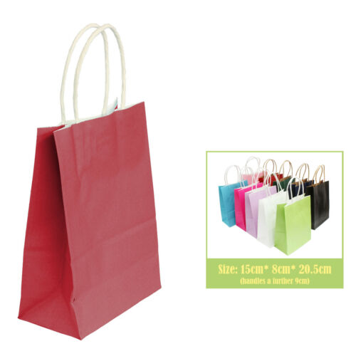 Birthday Loot Bag Hen Party Coloured Paper Bags with handles for Wedding Gift