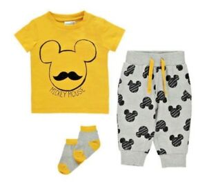 28a251315 NEW Baby Boys Disney Jogger Set Age 12 18 Months Mickey Mouse 3 ...