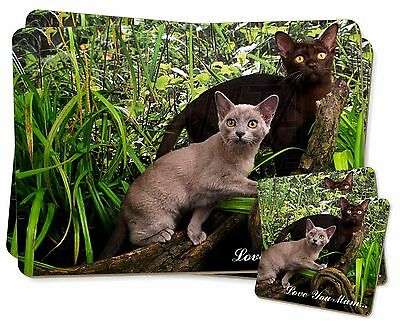 100% Vero Burmese Cats 'love You Mum' Twin 2x Placemats+2x Coasters Set In Gif, Ac-33lympc Disabilità Strutturali