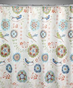 Saturday Knight Eastern Tales Asian Inspired Birds Medallions Shower Curtain Ebay