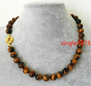 environ 50.80 cm 8 mm NATURAL Yellow tiger/'s Eye Stone Round Gemstone Beads Necklace AAA 20 in