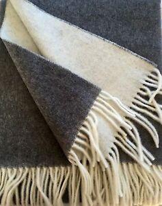 cachemire-COUVERTURE-double-face-gris-creme-150x190cm-Allemagne