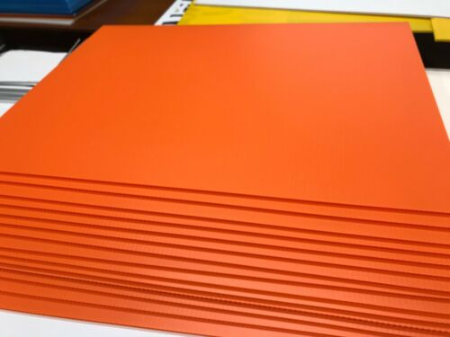 """Details about  /100 Blank Signs  Orange   18"""" X 24"""" x4 mmcorrugated plastic panel 100 pieces"""