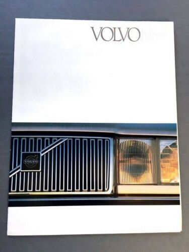 1989 Volvo Line Original Car Sales Brochure 240 740 760 780 Coupe Bertone