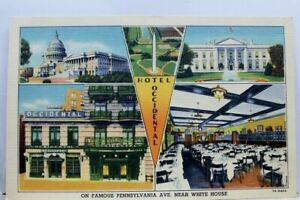 Washington-DC-Hotel-Occidental-White-House-Pennsylvania-Ave-Postcard-Old-Vintage