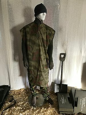 vintage  German army poncho cape rain poncho water proof surplus military