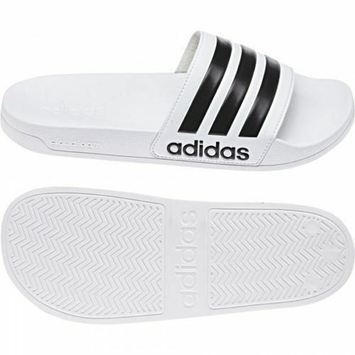 hot sales f06dd aefcf Adidas Adultes Néo Tongs Cloudfoam Adilette Blanc   Noir EUR 36.5   Achetez  sur eBay