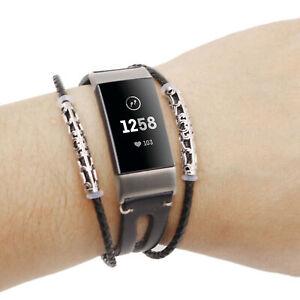 fitbit charge 3 bracelet cuir
