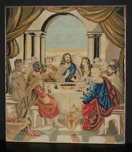 "The Last Supper A Good Quality C19th Berlin Woolwork 26"" X 22 1/2"" Fashionable Patterns"