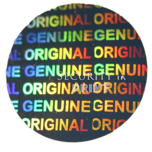 ORIGINALE OLOGRAMMA OLOGRAFICA ROUND sicurezza ADESIVI 20mm dia c20-2s