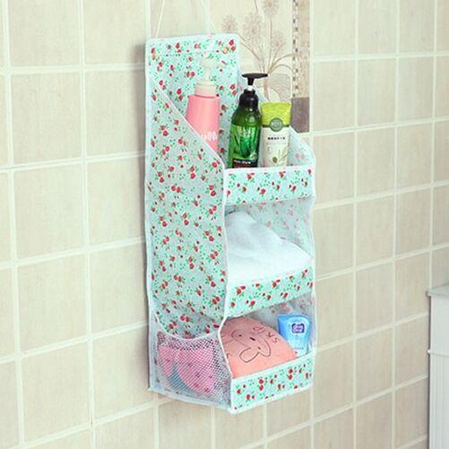 3 Layer Hanging Bag Bathroom Storage Basket Toiletry Holder Shelf Home Organiser