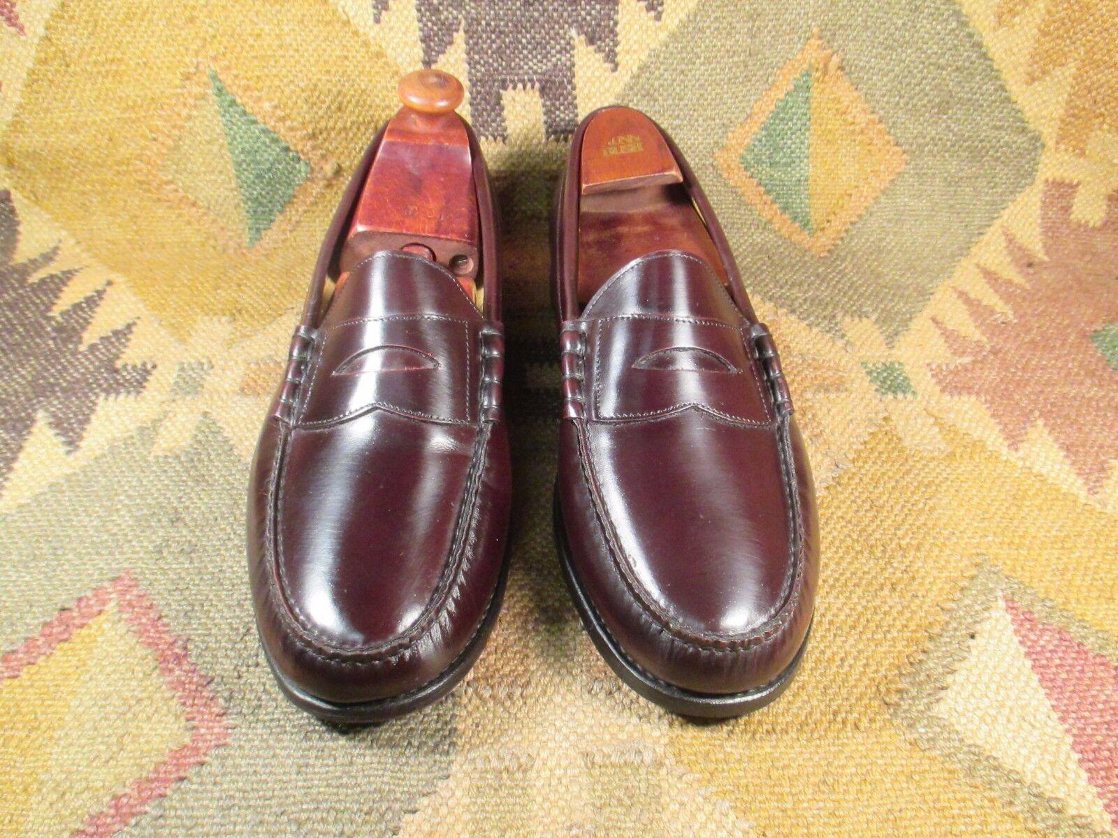 Bostonian Moccasin   Penny Loafers Burgundy Leather sautope Dimensione 12D fatto In India Sautope classeiche da uomo