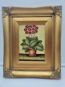 Vintage Robert Grace Floral Still Life, Oil on Canvas, Wood Frame