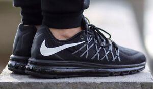119eb71e8 New* Nike Air Max 2015 Men's Size 6 Running Shoes Black/White 698902 ...