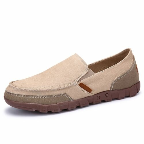 Hot Men/'s Casual Canvas Shoes Loafers Peas Flats Driving Boat Slip On Breathable