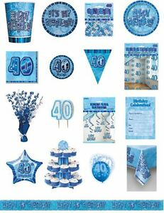 40-40th-Birthday-Blue-Glitz-Party-Range-Party-Plates-Napkins-Banners-Cups