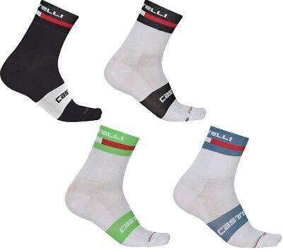 4517040 Castelli Volo 9 Sock atmungsaktive Sport-//Fahrradsocken schwarz//weiß