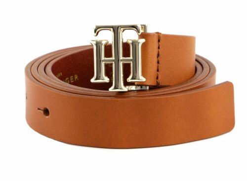 Tommy Hilfiger Logo Belt 2.5 w85 Ceinture Cognac Marron Nouveau