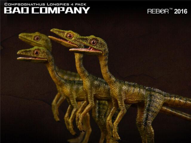 REBOR Compsognathus Longpies x4 Bad Company 1/6 Dinosaur Museum Class Model