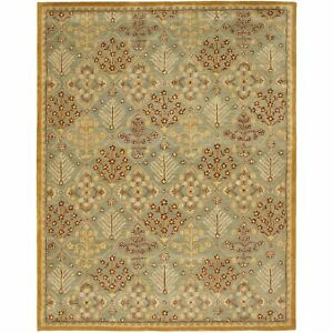 Hand Tufted Antiquity Light Blue Wool Area Rug 11 X 17 Ebay
