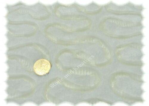 Colette Sweat Ecru hilco peluche piel sintética con malla Fake fur 25 cm