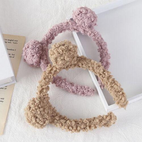 Women/'s Lame Plush Headband Cat Ear Hairband Bezel Hair Band Hoop Accessories