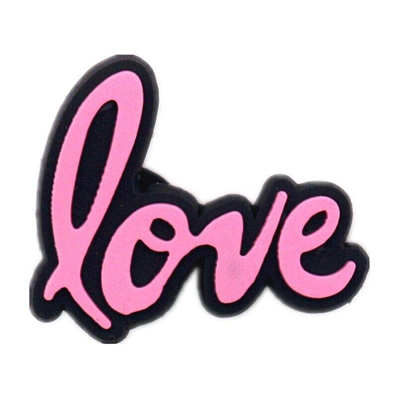 Cartoon Shoe Charms - Cute 'Love' Charm - Crocs Compatible