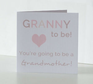 Grandma To Be Card Grandad To Be Auntie To Be Uncle Pregnancy