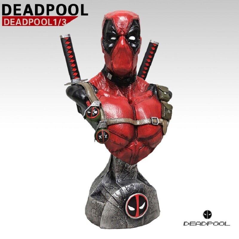 en linea súper héroe Deadpool busto de 13 pulgadas de altura 1 1 1 3 Escala Resina Estatua refundición Nuevo  a la venta