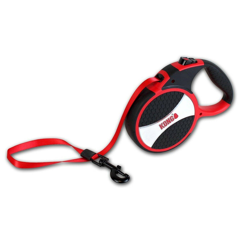 KONG Explore Retractable Dog Leash, Large, rot, 7,5m Tape