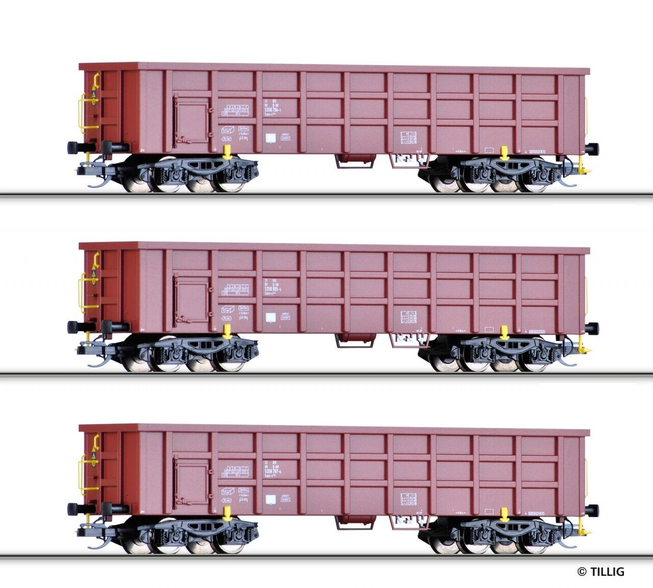 TT aperta carri merci Set DB AG Ep. vi 3 pezzi Tillig 01677