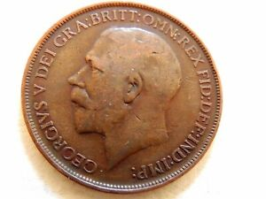 1913-British-One-1-Penny-Coin