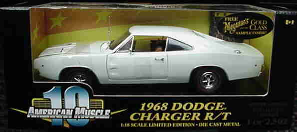 1968 CHARGEUR R T Blanc 1 2502 1 18 ertl american muscle 32764
