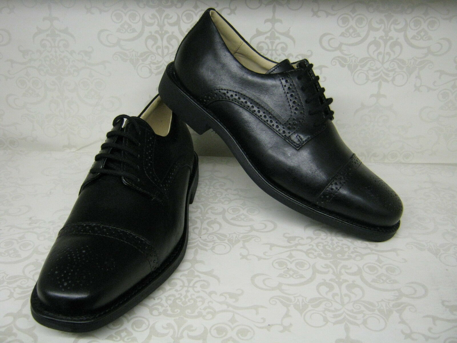 Anatomic & Co Araras Black Leather Smart Lace Up Brogue Style Shoes