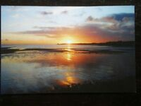 POSTCARD B31-6 ISLE OF MAN WINTER SUNSET AT CASTLETOWN