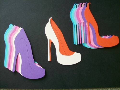 LARGE LAYERED HIGH HEELED SHOE DIE CUTS variety pack