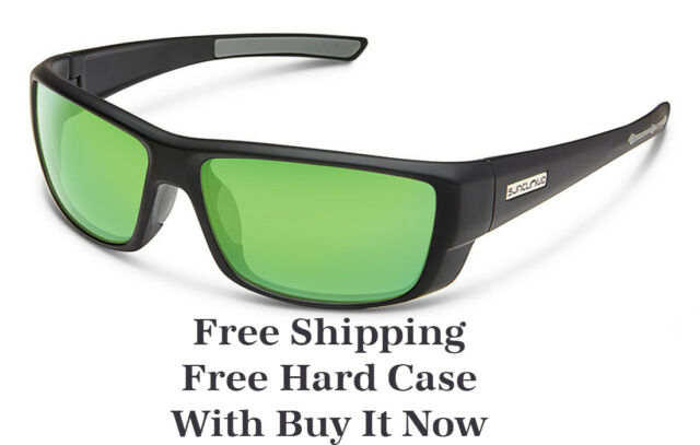 efb0b5079d Suncloud Lock Polarized Sunglasses Matte Black Green Mirror for sale ...