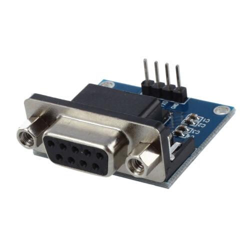 MAX3232 RS232 alla porta seriale TTL Convertitore Modulo DB9 Connettore NE0045 Nuovo Regno Unito