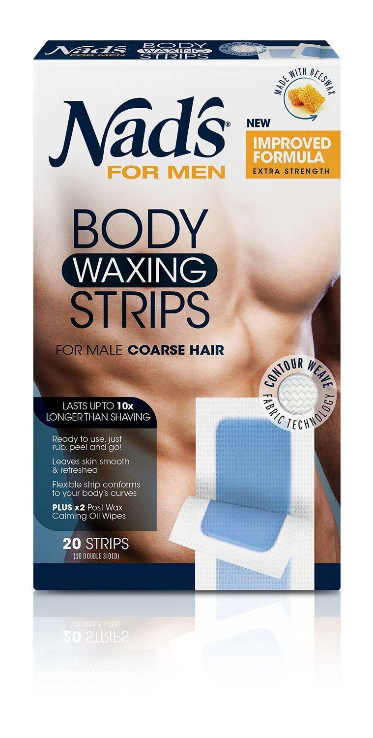 Pack Of 20 Nad S For Men Body Wax Strips Fast And Effective Hair