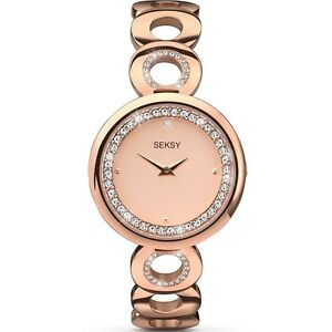 Sekonda Seksy Crystal Eclipse Rose Gold Bracelet Ladies Fashion Watch 2079