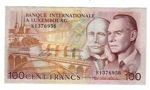 Lussemburgo-Luxembourg-100-franchi-1981-FDS-UNC-pick-14A-lotto-2513