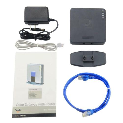Free Ship!Unlocked Phone adapter SPA3102 V2 Voip ATA adapter Voip phone Router