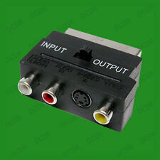 Scart to RCA Composite S-Video and LR Audio Adaptor, TV, Television, Output