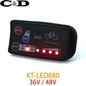 36V-48V-Electric-Bicycle-KT-LED-LED880-ebike-Control-Panel-Display-Electric-Bike