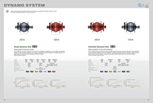 dynohub hub dynamo PD-8 Shutter Precision For ISO 6 hole disc brakes! SP