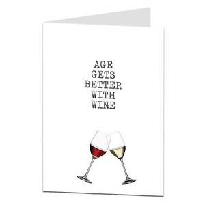Funny happy birthday card age wine drinker alcohol him her male image is loading funny happy birthday card age wine drinker alcohol bookmarktalkfo Images