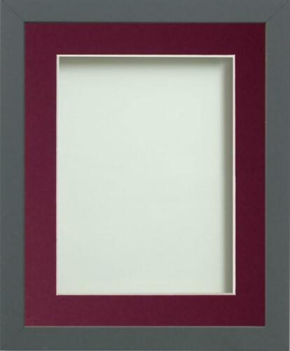 Frame Company Allington Range Grey Picture Photo Poster Frame with Photo Mount